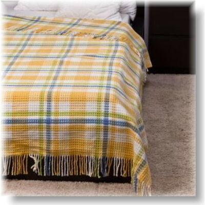 Sárga kockás piknik takaró