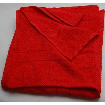 Piros pamut frottír törölköző