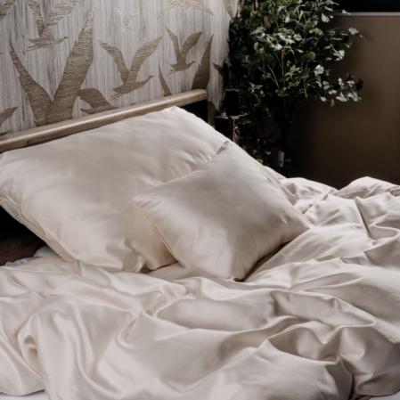 Avorion ekrü luxus pamutszatén ágyneműhuzat