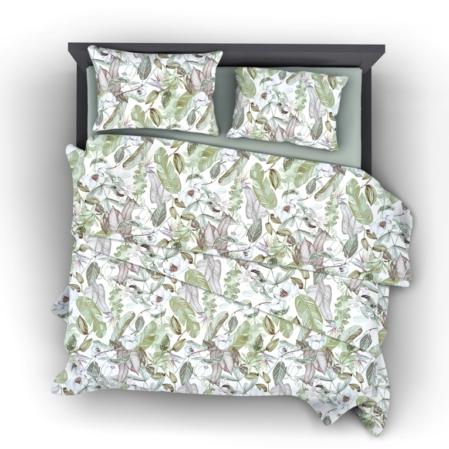 Lily virágos pamutszatén ágyneműhuzat