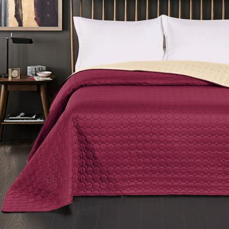 Bordó-kérmszínű kétoldalas steppelt ágytakaró (170x210)