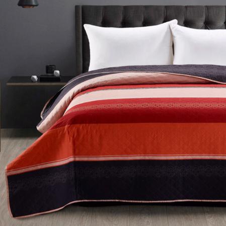 Fekete piro csíkos steppelt kétoldalas steppelt ágytakaró