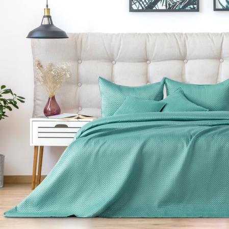 Türkiz zöld egyszemélyes steppelt ágytakaró