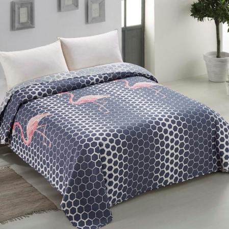 Flamingós kétoldalas ágytakaró