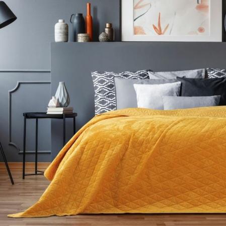 Narancssárga steppelt ágytakaró