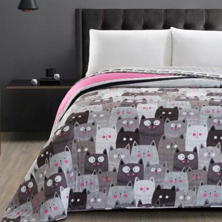 Cicás kétoldalas steppelt ágytakaró