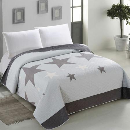 Csillag mintás mintás steppelt ágytakaró