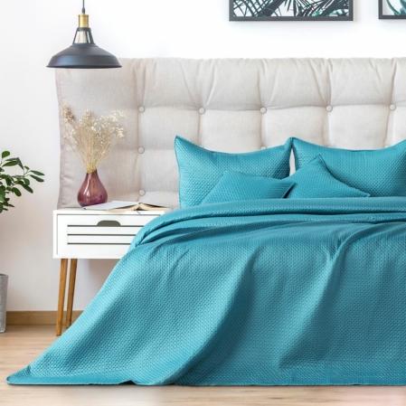 Türkizkék egyszemélyes steppelt ágytakaró