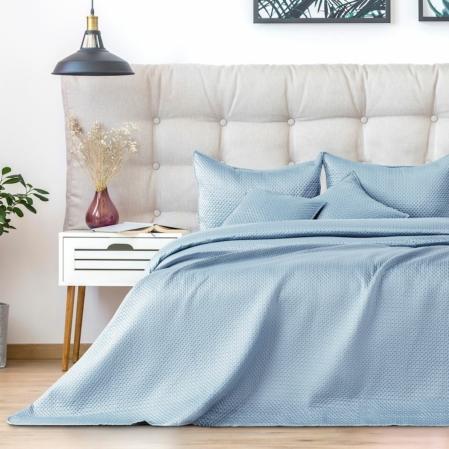 Világos kék egyszemélyes steppelt ágytakaró