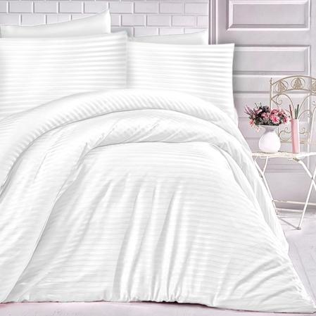 fehér csíkos damaszt ágyneműhuzat