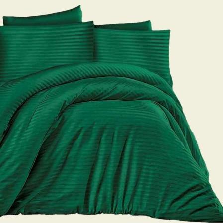 zöld csíkos damaszt ágyneműhuzat