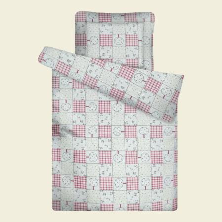 Rózsaszín patchwork ovis paplan párna szett
