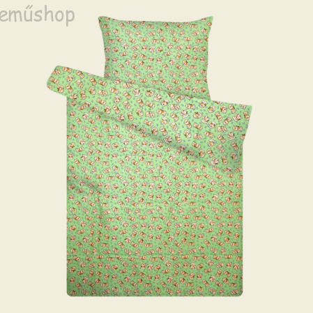 Zöld macis flanel ovis ágyneműhuzat