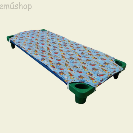 Kék autós steppelt derékalj óvodai fektetőre ovis ágyra