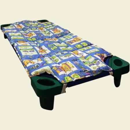 Kék mackó család steppeltt derékalj óvodai fektetőre ovis ágyra