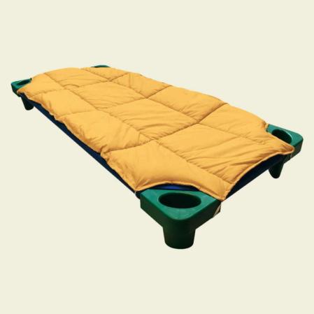 napsárga steppelt derékalj óvodai fektetőre ovis ágyra