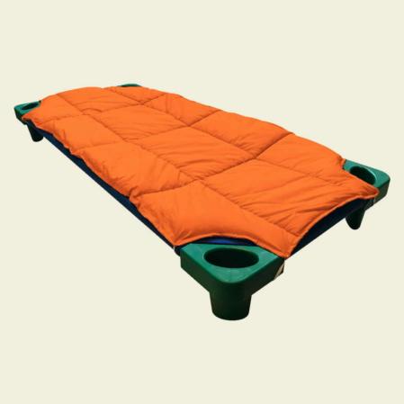 narancssárga steppeltt derékalj óvodai fektetőre ovis ágyra