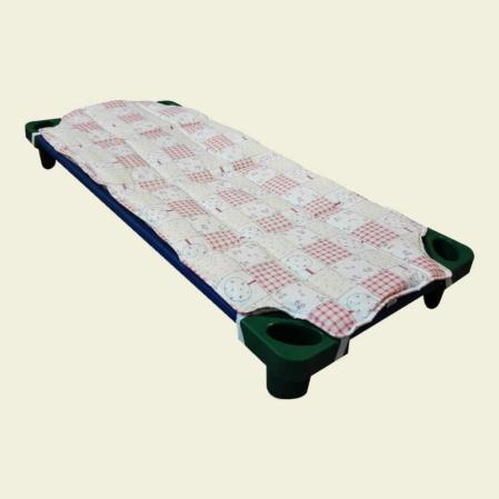 rózsaszín patchwork steppelt derékalj óvodai fektetőre ovis ágyra