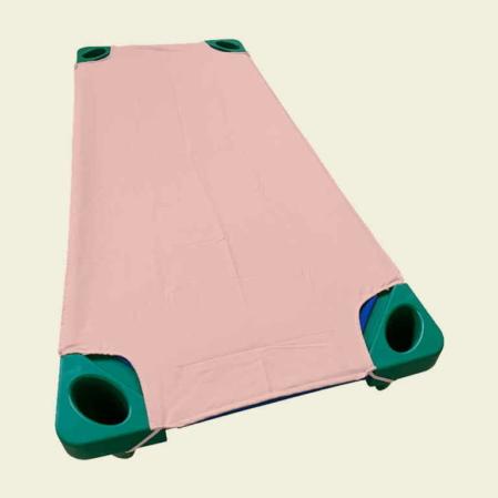 Rózsaszín pamut lepedő ovis ágyra
