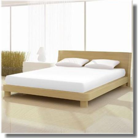 Fehér pamut elastan classic gumis lepedő alacsony matracra