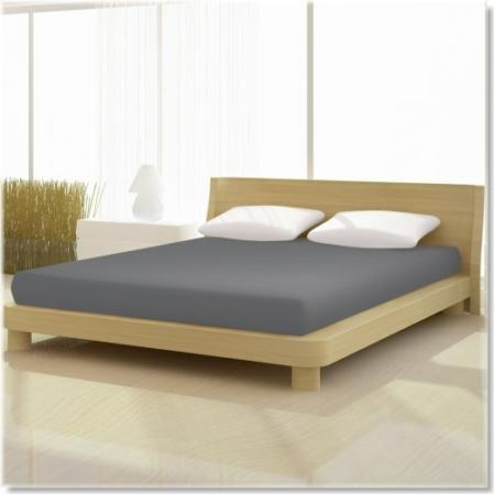 palaszürke pamut elastan classic gumis lepedő alacsony matracra