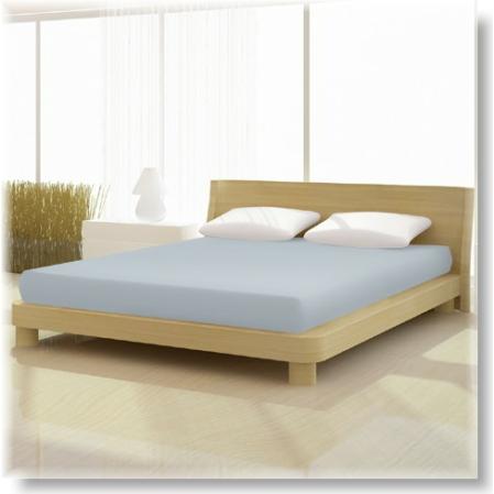 Világos szürke pamut elastan classic gumis lepedő alacsony matracra