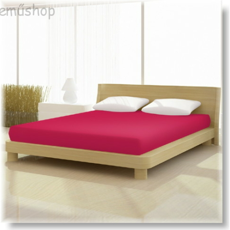 Pamut jersey classic gumis lepedő skarlát vörös 140x200 és 160x200 cm-es matracra