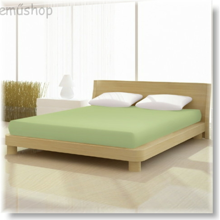 Almazöld pamut elastan classic gumis lepedő alacsony matracra