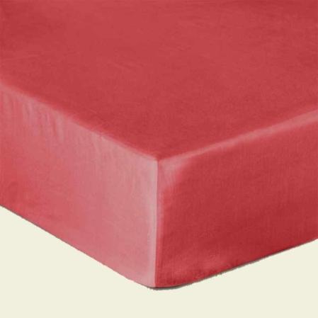Piros pamutszatén gumis lepedő