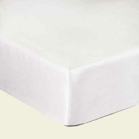 Fehér pamutszatén gumis lepedő