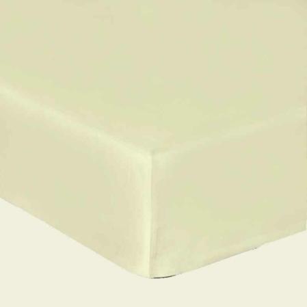 Törtfehér pamutszatén gumis lepedő
