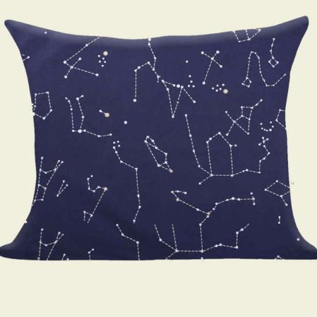 csillagképes  pamutszatén párnahuzat