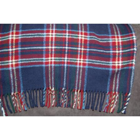 kék kockás piknik pléd  takaró