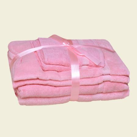 Rózsaszín 100% pamut frottír fürdőlepedő