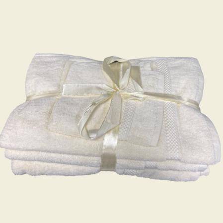 Krémszínű 100% pamut frottír fürdőlepedő