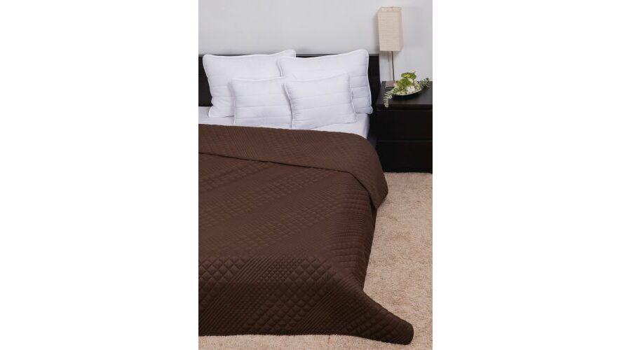 Barna kockás steppelt ágytakaró 235 250 143ed11ffc