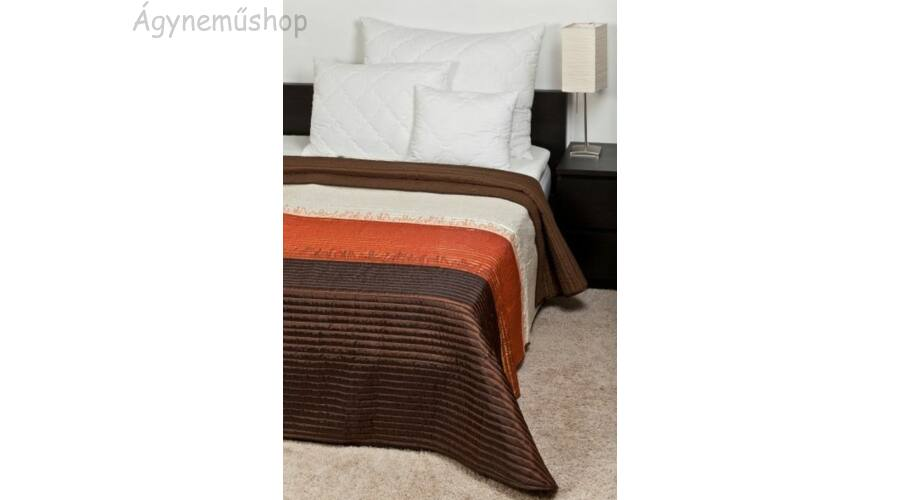 Barna-narancs csíkos taft ágytakaró (235 250 cm) 3e75e6aedb
