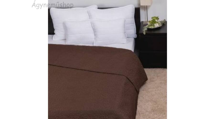 Sötlétbarna steppelt ágytakaró 2f3f151b80