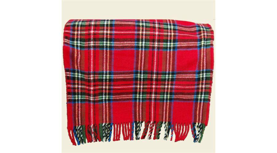 Klasszikus skót kockás piros pamut pléd 53ed43016a