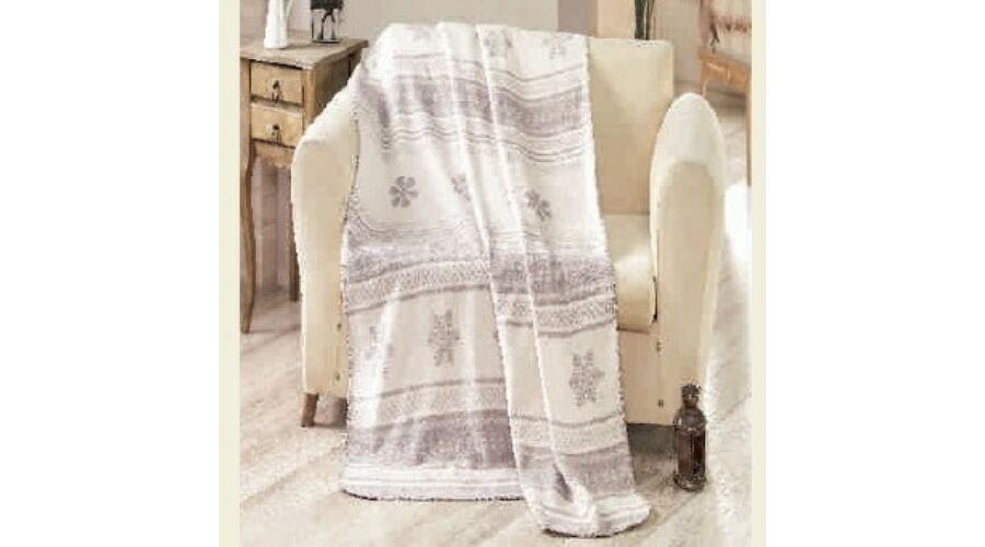 Bézs hópihés téli pléd - Ajándék gyerekeknek f5cb61b11b